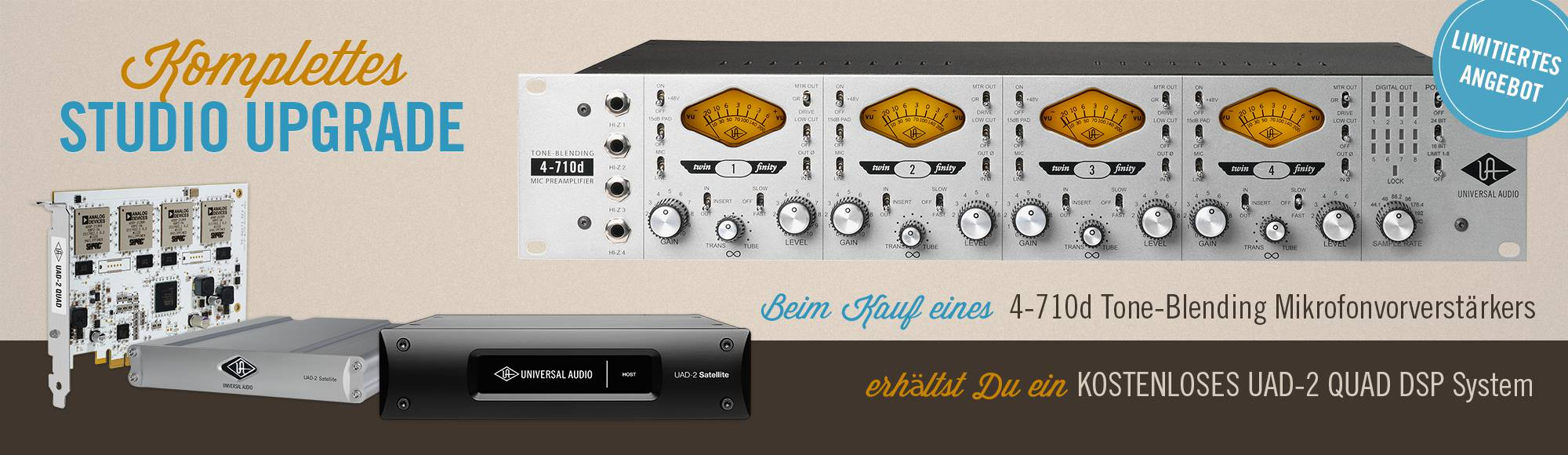 Universal Audio Studio Upgrade