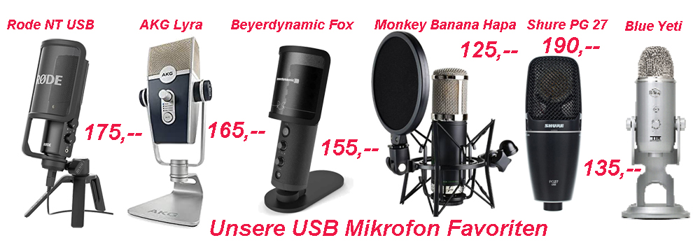 USB Mikrofon Favoriten